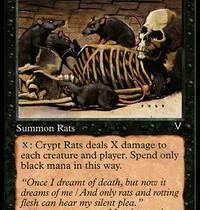 墓所のネズミ/Crypt Rats【Pauperカード個別考察】